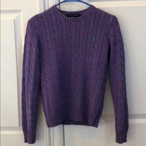 New Ralph Lauren periwinkle lavender sweater